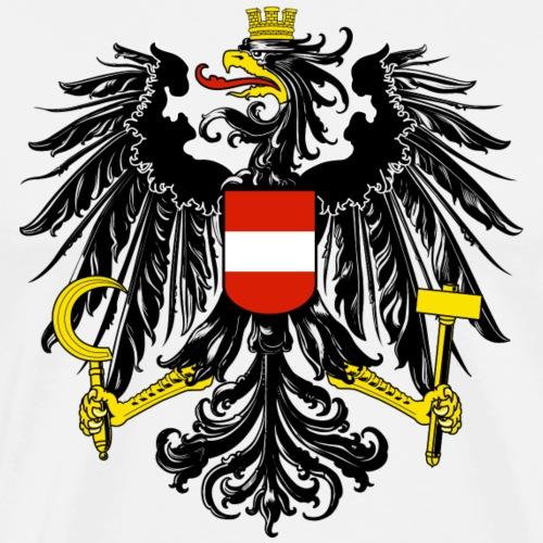 Österreich Flagge Wappen Geschenk Symbol Logo - Männer Premium T-Shirt