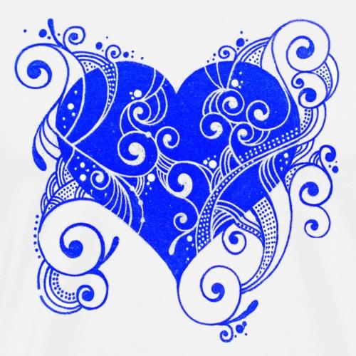 Herz in blau - Männer Premium T-Shirt