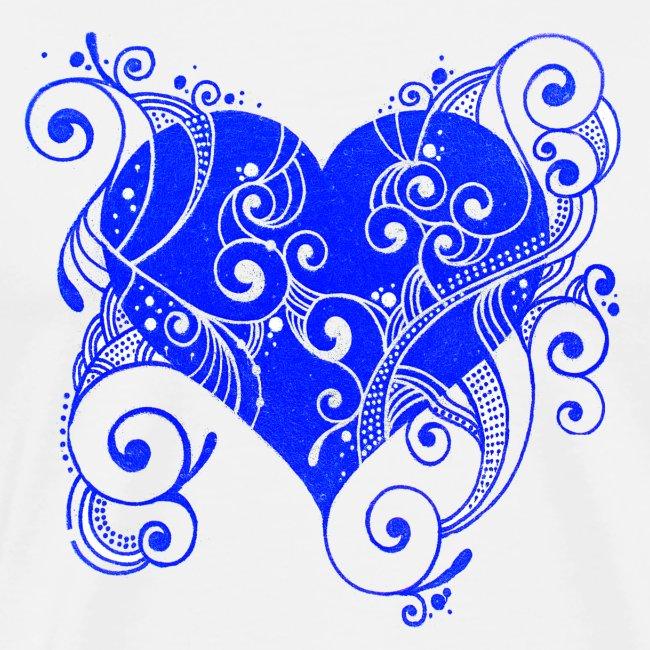 Herz in blau