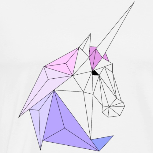 Einhorn geometrie unicorn - Männer Premium T-Shirt