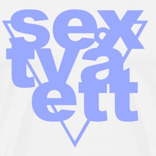 sextvåett By TheRawburt - Premium-T-shirt herr