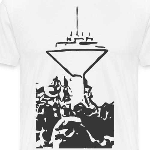Wasserturm Rottweil schwarz - Männer Premium T-Shirt