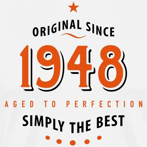 original since 1948 simply the best 70. Geburtstag - Men's Premium T-Shirt
