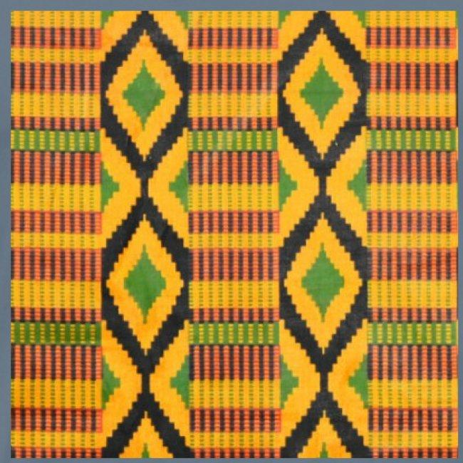 Motifs au losange coloré vert, jaune et noir
