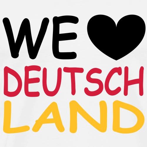 WE ♥ Deutschland - Schwarz Rot Gold - Männer Premium T-Shirt