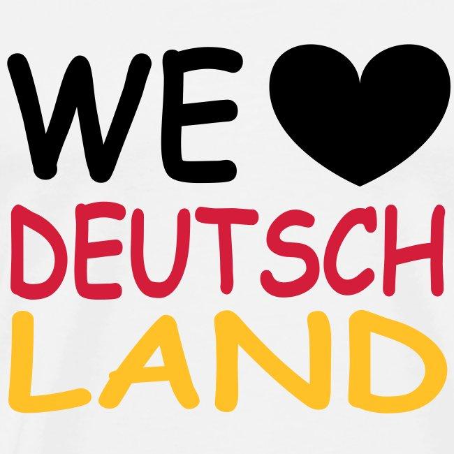 WE ♥ Deutschland - Schwarz Rot Gold