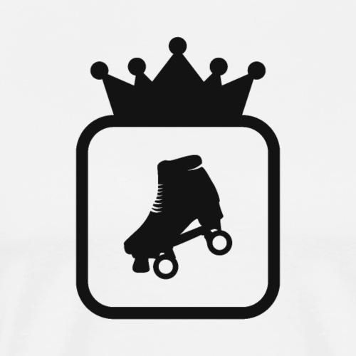 Speedskating Krone Schwarz - Männer Premium T-Shirt