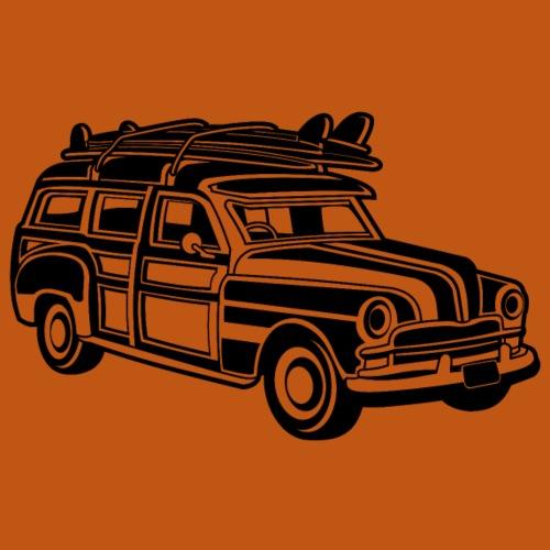 Chevy Cadilac Woodie / Oldtimer Kombi 01_schwarz - Männer Premium T-Shirt
