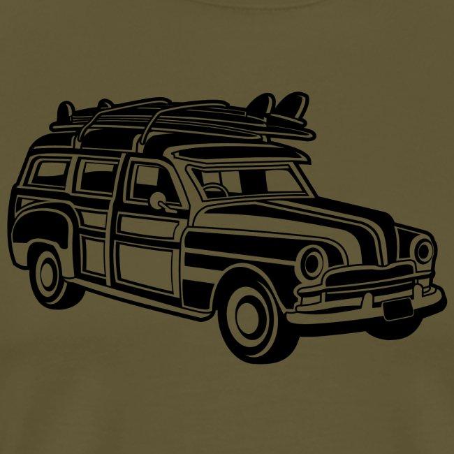 Chevy Cadilac Woodie / Oldtimer Kombi 01_schwarz
