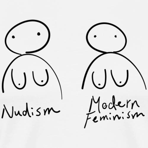 Nudism/Feminism - Mannen Premium T-shirt