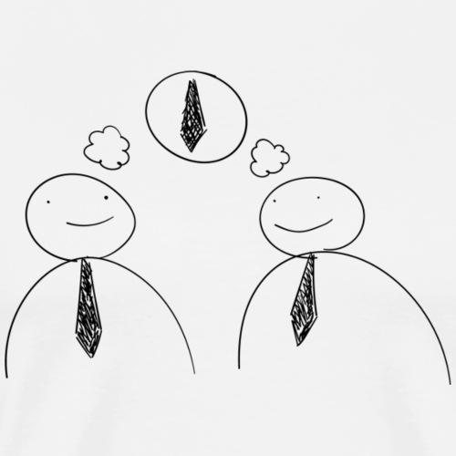 Tie Thought - Mannen Premium T-shirt