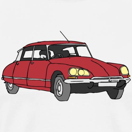 Auto dunkelrot - Männer Premium T-Shirt