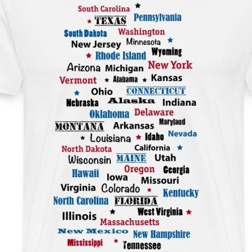 USA Amerika United States of America Bundesstaaten - Men's Premium T-Shirt