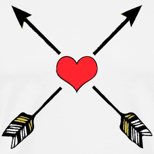 Love arrows ❤ - Men's Premium T-Shirt