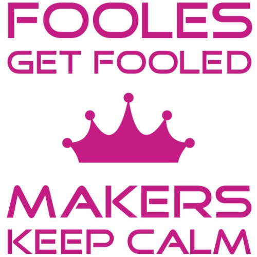 keep calm | fools & makers | Pink - Männer Premium T-Shirt