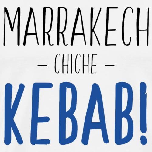 Marrakech Chiche Kebab - Noir Bleu - T-shirt Premium Homme