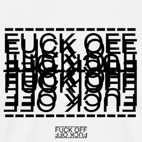 FUCK OFF - LINEs - Men's Premium T-Shirt
