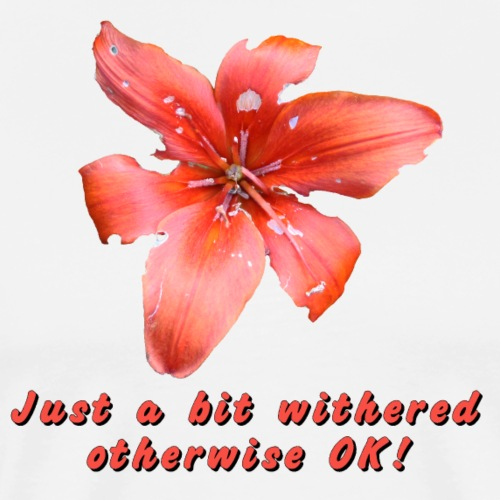 Just a bit withered otherwise ok