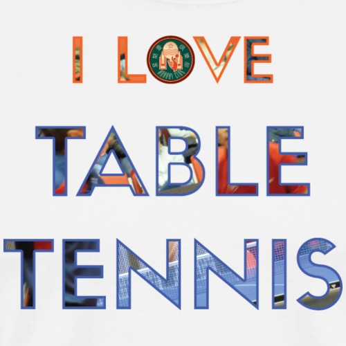 CTTC Special Club Edition: I love table tennis - Premium-T-shirt herr