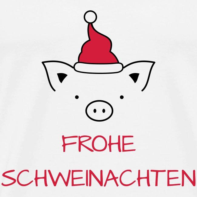 Bild Frohe Weihnachten Lustig.Frohe Weihnachten Schwein I Frohe Schweinachten Männer Premium T Shirt