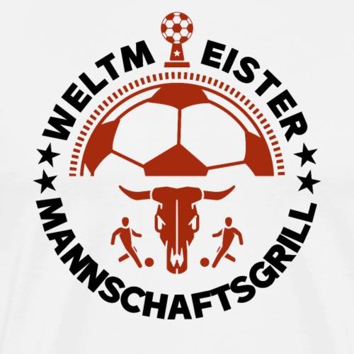 FUSSBALL MANNSCHAFTSGRILL v1SB - Männer Premium T-Shirt