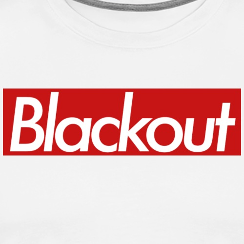 Blackout Red - Premium-T-shirt herr