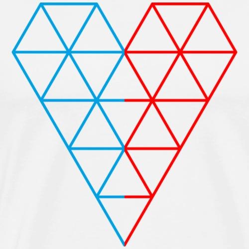 The Heart of Life x 1, Dual Polygon. - Men's Premium T-Shirt