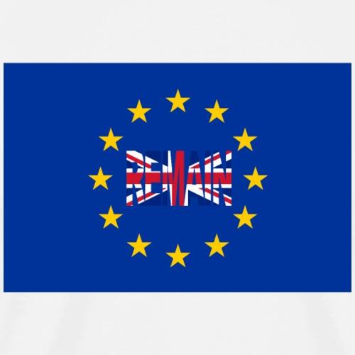 Remain - No Brexit - Männer Premium T-Shirt