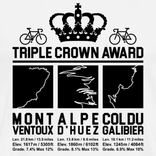 Cycling Triple Crown - Ventoux, d'Huez & Galibier - Men's Premium T-Shirt