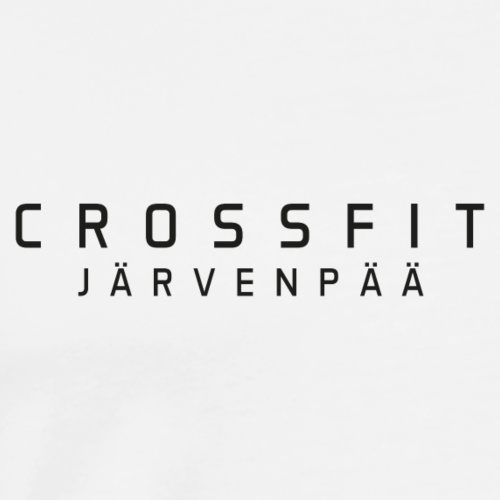 CrossFit Järvenpää mustateksti - Miesten premium t-paita