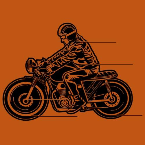 Cafe Racer Motorrad 04_schwarz - Männer Premium T-Shirt