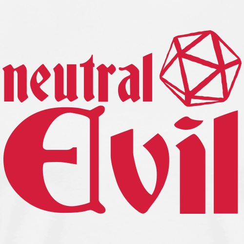 neutral evil - Men's Premium T-Shirt