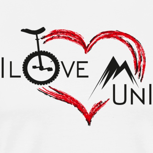 Einrad | Unicycling I Love Muni - Männer Premium T-Shirt