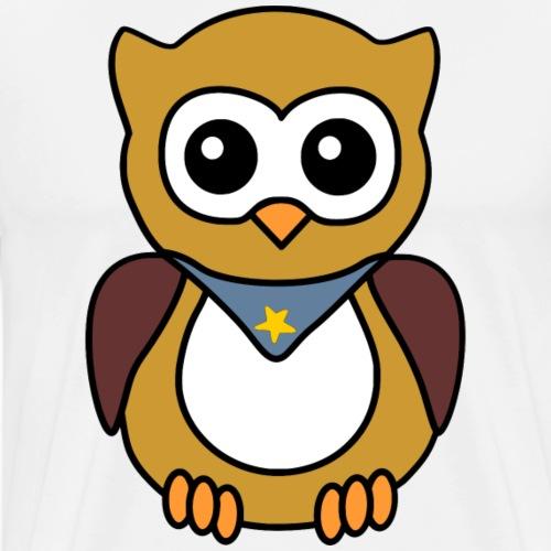Eule Junge Halstuch - Männer Premium T-Shirt