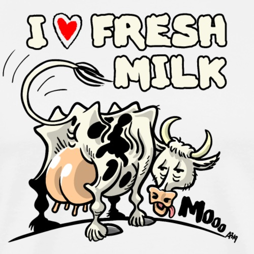 milk cow - Mannen Premium T-shirt