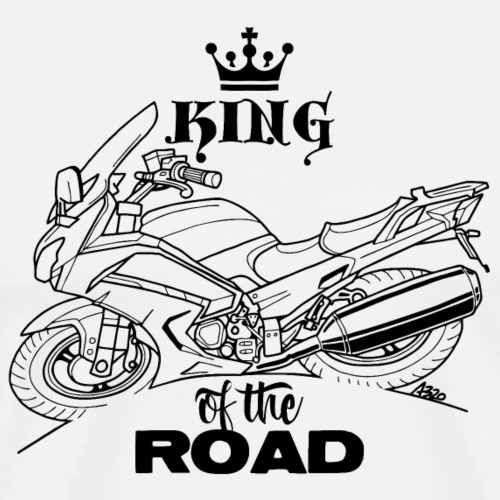 0882 FJR KING of the ROAD - Mannen Premium T-shirt