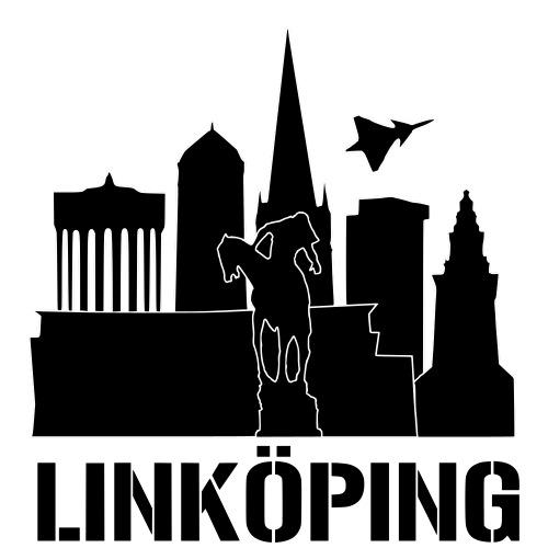 Linköping Skyline - Premium-T-shirt herr