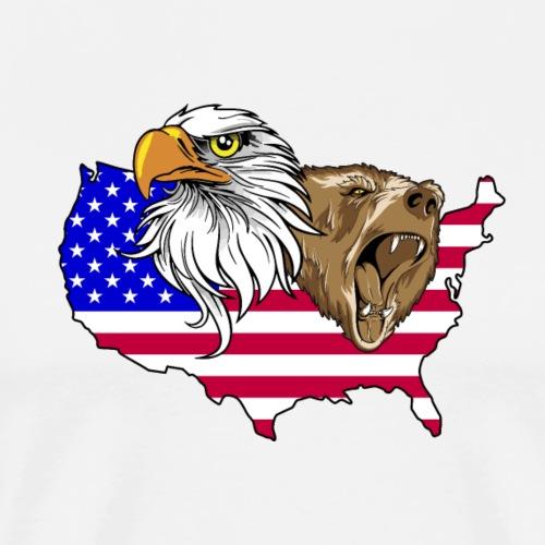 USA Adler eagle Grizzlybär bear America Amerika - Men's Premium T-Shirt