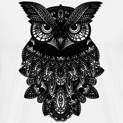 OWL - Black Bird - Men's Premium T-Shirt