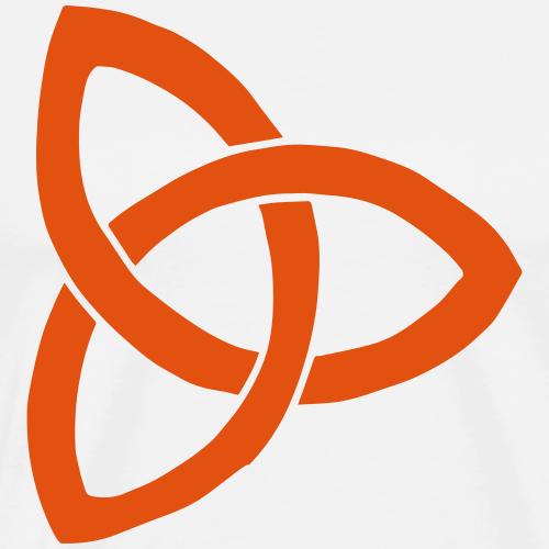 Farbe anpassbar keltisch Triquetra Symbol Geschenk - Männer Premium T-Shirt