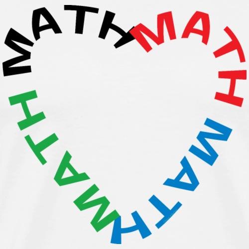 Math Text Heart - Men's Premium T-Shirt