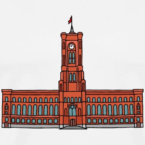 Il Municipio Rosso di Berlino c - Maglietta Premium da uomo