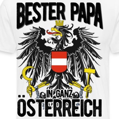 BESTER PAPA ÖSTERREICH - Geschenk Vatertag - Männer Premium T-Shirt