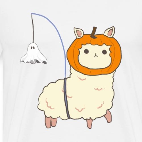 Halloween Alpaka mit Geistlaterne