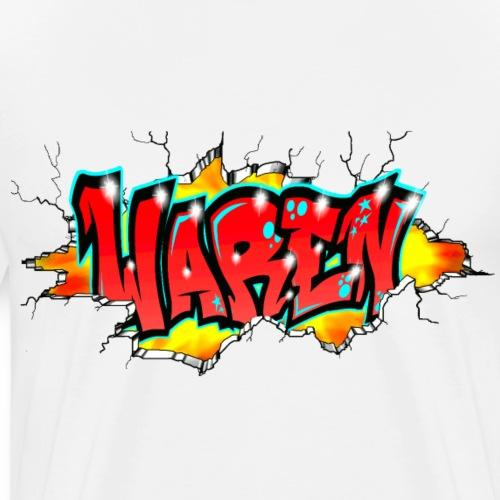 GRAFFITI TAG WAREN PRINTABLEONEVERYTHING+Red+wall - T-shirt Premium Homme
