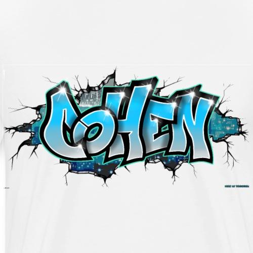 COHEN GRAFFITI TAG PRINTABLE BY MAX LE TAGUEUR - T-shirt Premium Homme