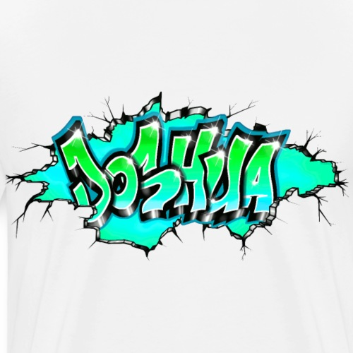GRAFFITI JOSHUA PRINTABLE WALL BROKE - T-shirt Premium Homme
