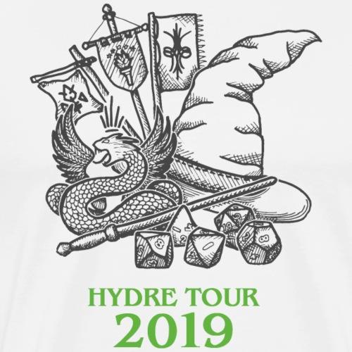 Hydre Tour 2019 (anthracite-vert) - T-shirt Premium Homme