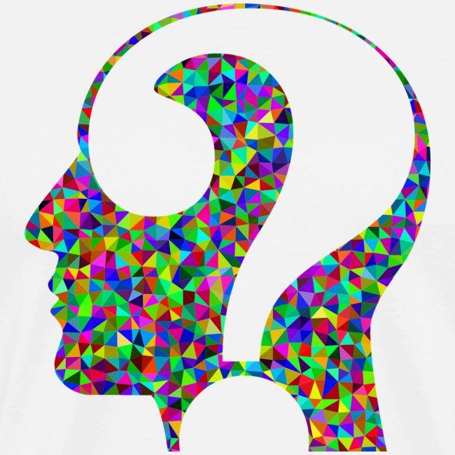Fragender Kopf