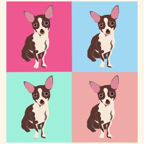 Popart Chihuahua - Männer Premium T-Shirt